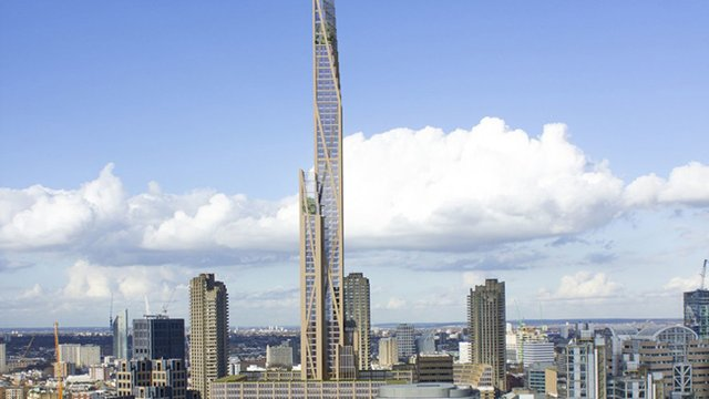 Design unveiled for London's first timber tower