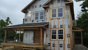 Rigid foam insulation helps to stop moisture from forming inside of walls from condensation in addition to helping to keep indoor temperatures comfortable. The rigid foam is topped with 1-by-3 furring strips to create an air gap and provide for effective water drainage behind the siding.