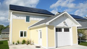 The builder installed a 7.43-kW solar photovoltaic electric system that should contribute about $775 to the nearly $900 in savings each year that the high-performance home will realize, compared to a home built to code (the 2009 IECC).