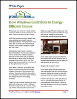 How Windows Contribute to Energy-Efficient Homes