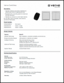 Verve Wireless Switches Tech Sheet