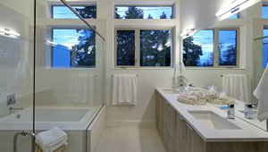 A bathroom in one of the townhouses.