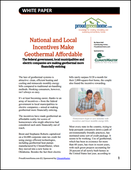 National and Local Incentives Make Geothermal Affordable
