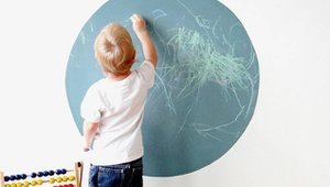 Turn your walls into art with zero VOC chalkboard paint