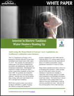 Interest in Electric Tankless Water Heaters Heating Up