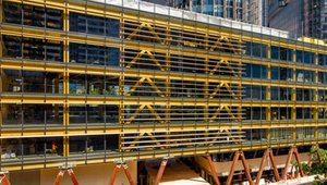 Australia's largest commercial timber building rises in Sydney