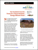 Use Insulated Concrete Forms for a Storm Resistant, Energy-Efficient Home