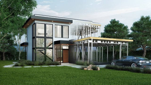 Steel frame home designed for net zero living