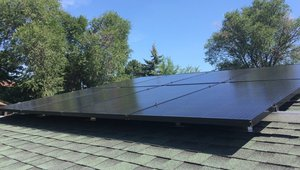 Solar panels used in DOE Weatherization Assistance Program