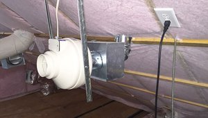 A fresh air intake was installed in the attic to provide fresh filtered air to the home.