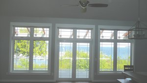 Ultra-efficient triple-pane windows minimize heat loss while maximizing views of the harbor from almost every room.