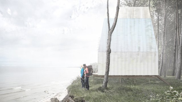 Tiny Home Cabin Concept Inspired by the Latvian Coast