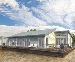 Pre-fab home chosen to withstand stormy weather location