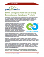 ROMA Ecological Paints on List of Top Innovative and Sustainable Products