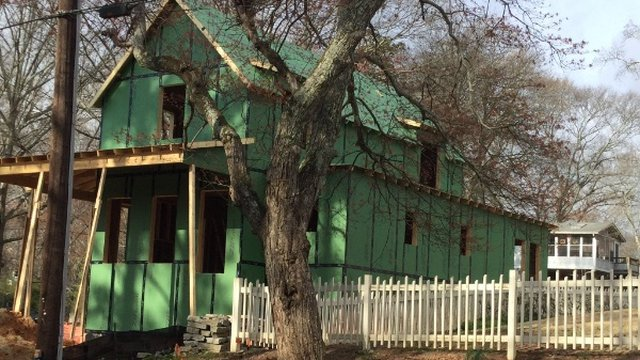 Green Home Ready for Pre-Dry Wall Open House