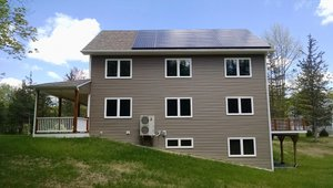The 10.26-kW PV system and highly insulated structure help the home perform as a net zero home that produces as much energy as it uses in a year.