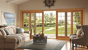 Create a dramatic transition from indoors to outdoors