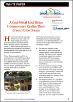 A Cool Metal Roof Helps Homeowners Realize Their Green Home Dream