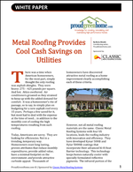 Metal Roofing Provides Cool Cash Savings on Utilities
