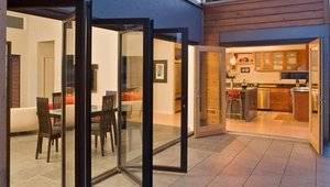 <p>The Breezehouse prefabricated design from Blu Homes earns its name from the glass-enclosed central area designed to be opened to the outdoors with sliding doors or NanaWall windows and doors.</p>  <p>&nbsp;The home also features floor-to-ceiling fenestration, soaring ceilings and and open floorplan.</p>  <p>The home was created for a Southern California lifestyle based on what local homebuyers told the company they look for most in a home. The Breezhouse expresses the best in luxurious Southern California living: beautiful modern design with a seamless indoor-outdoor connection, grand spaces and expansive decking for year-round entertaining and generous storage and closet space for the stand-up paddleboards, bikes, and other outdoor gear essential to making the most of life in Southern California.</p>