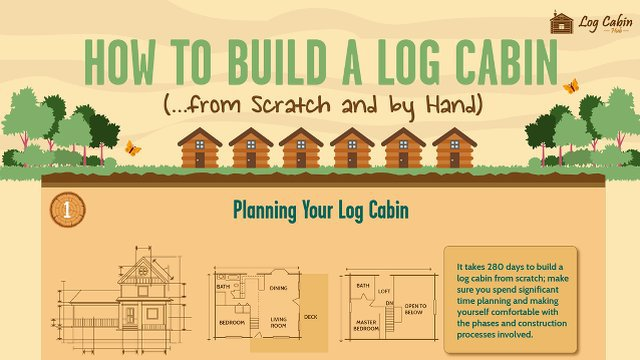 Infographic | Steps to Build Your Own Log Cabin