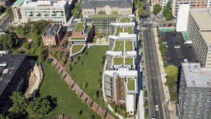 Pennsylvania university's green-roofed facility built using recycled construction waste