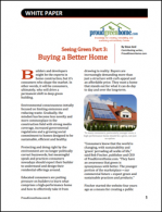 Seeing Green Part 3: Buying a Better Home