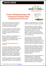 Create a Building Envelope with Continuous Insulation Using Insulated Concrete Forms