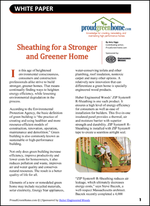 Sheathing for a Stronger and Greener Home