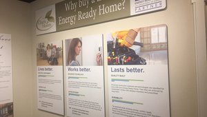 "Charis uses ""learning centers"" to help buyers learn more about DOE Zero Energy Ready Homes."