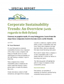 Corporate Sustainability Trends: An Overview (with regards to Bob Dylan)