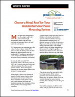 Choose a Metal Roof for Your Residential Solar Panel Mounting System