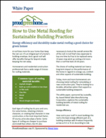 How to Use Metal Roofing for Sustainable Building Practices