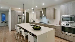 The kitchen in one of the townhouses. All appliances are Energy Star certified.