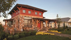 Use stone veneer to instantly boost a home's curb appeal