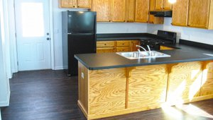 The home was equipped with a high-efficiency ENERGY STAR refrigerator and water-saving fixtures.