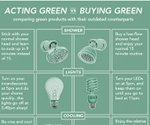 Are you acting green or living green? (infographic)