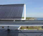Solar water heating installation gets a boost from oceanfront location