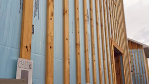 Furring strips provide a nailing surface for the siding, an air space to help siding dry, and a drainage plane providing a safe exit path for any water that gets past the siding in these dry-by-design walls.