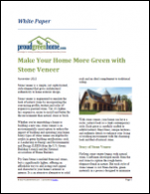 Make Your Home More Green with Stone Veneer