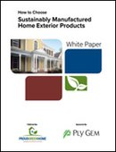 How to Choose Sustainably Manufactured Home Exterior Products