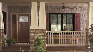 New black vinyl windows are a cool solution with a hot color