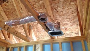 Sealed and insulated air ducts make up a comfort delivery system that carries air from the geothermal heat pump or air conditioner throughout the house.
