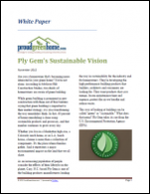 Ply Gem's Sustainable Vision