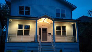 Nearly all of the home's lighting is provided by ultra-efficient light emitting diode (LED) lamps.