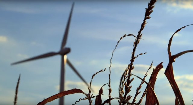 Community destroyed by wind now using wind to power it