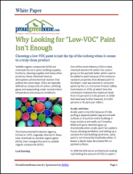 "Why Looking for ""Low-VOC"" Paints Isn't Enough"