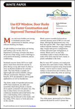 Use ICF Window, Door Bucks for Faster Construction and Improved Thermal Envelope