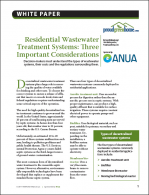 Residential Wastewater Treatment Systems: Three Important Considerations