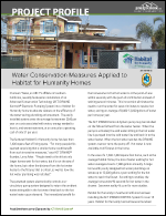 Water Conservation Measures Applied to Habitat for Humanity Homes